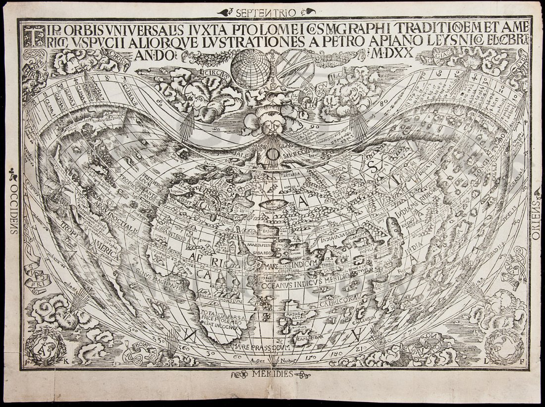 5: 1st obtainable map to name America 1520