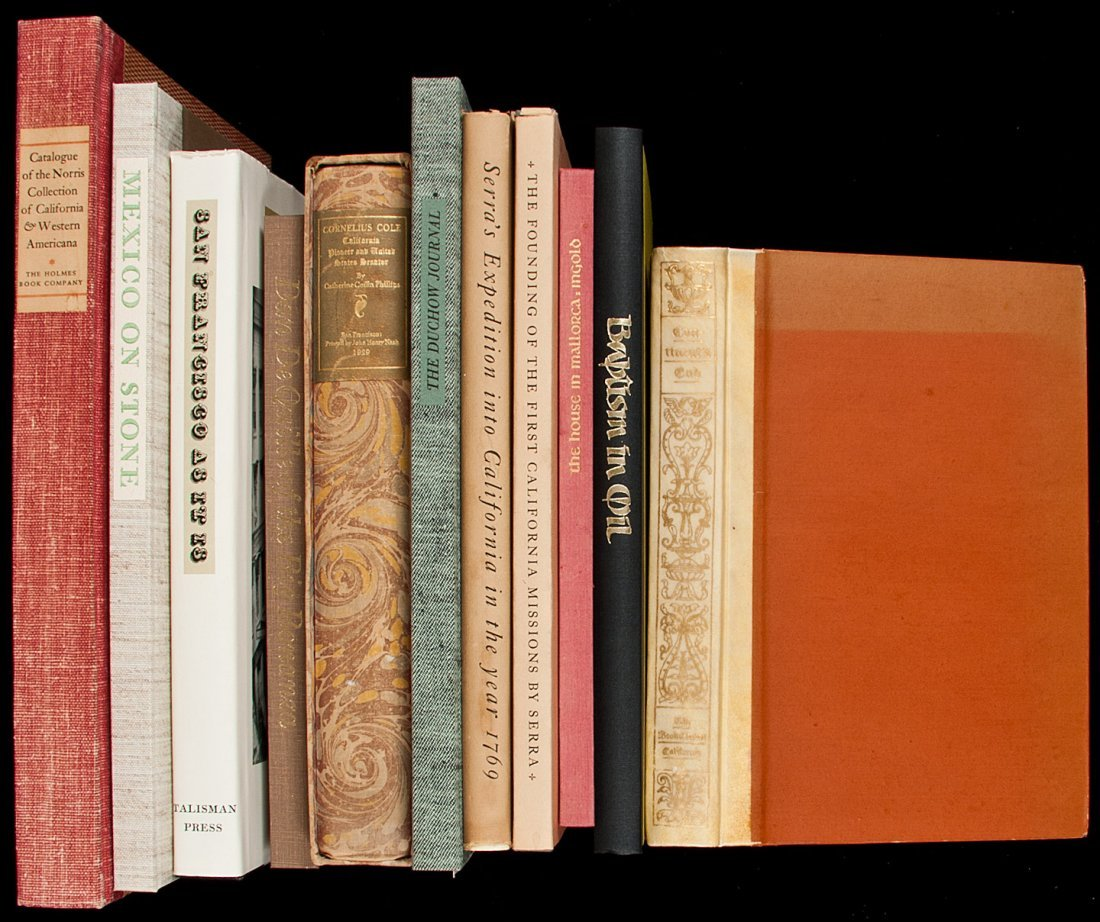 14: Ten volumes of Americana from various fine presse