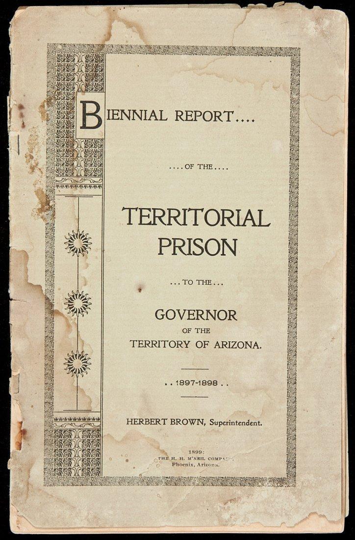19: Report of the Territorial Prison Arizona