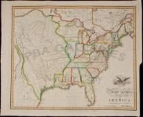 603: United States of America by John Melish 1818