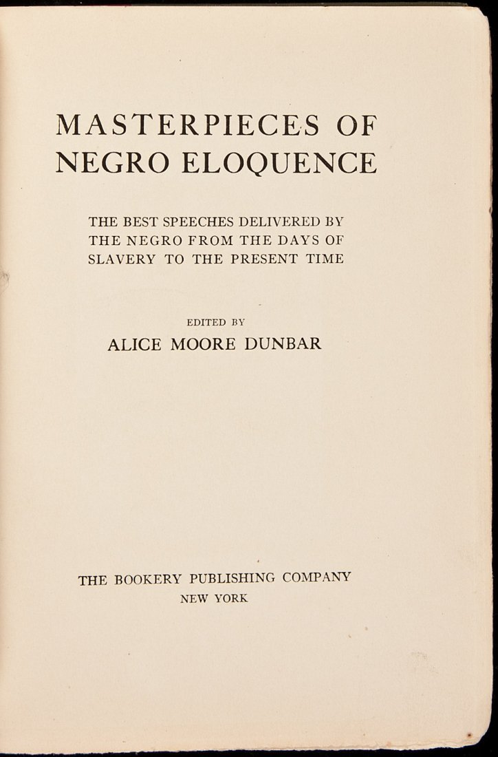2: Masterpieces of Negro Eloquence by Alice Dunbar
