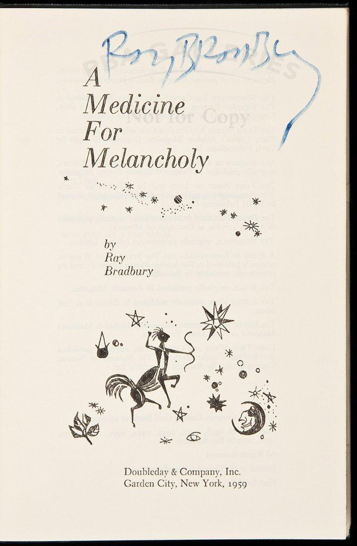 11: Ray Bradbury's Medicine for Melancholy signed