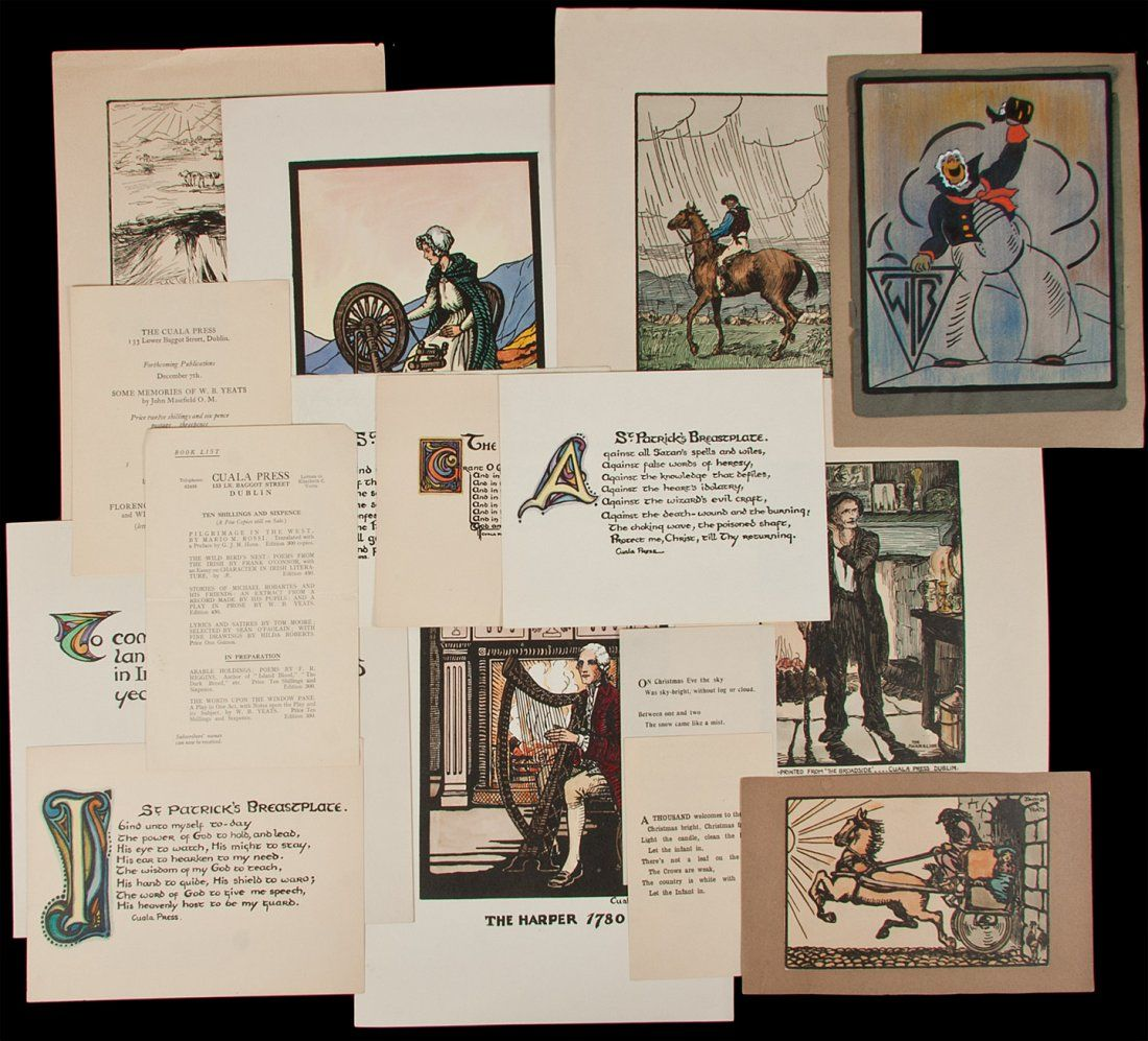 238: Large collection of Cuala Press prints broadsides