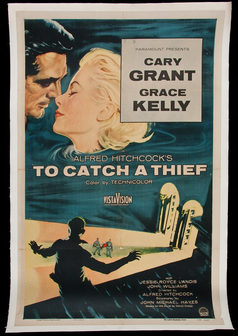 286: To Catch a Thief - vintage movie poster for the A