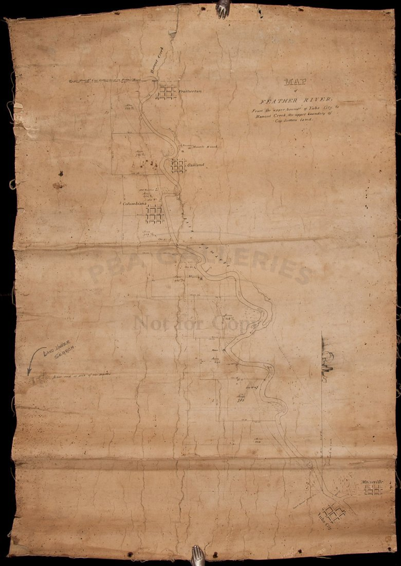 412: Ms. Map of Feather River c.1850