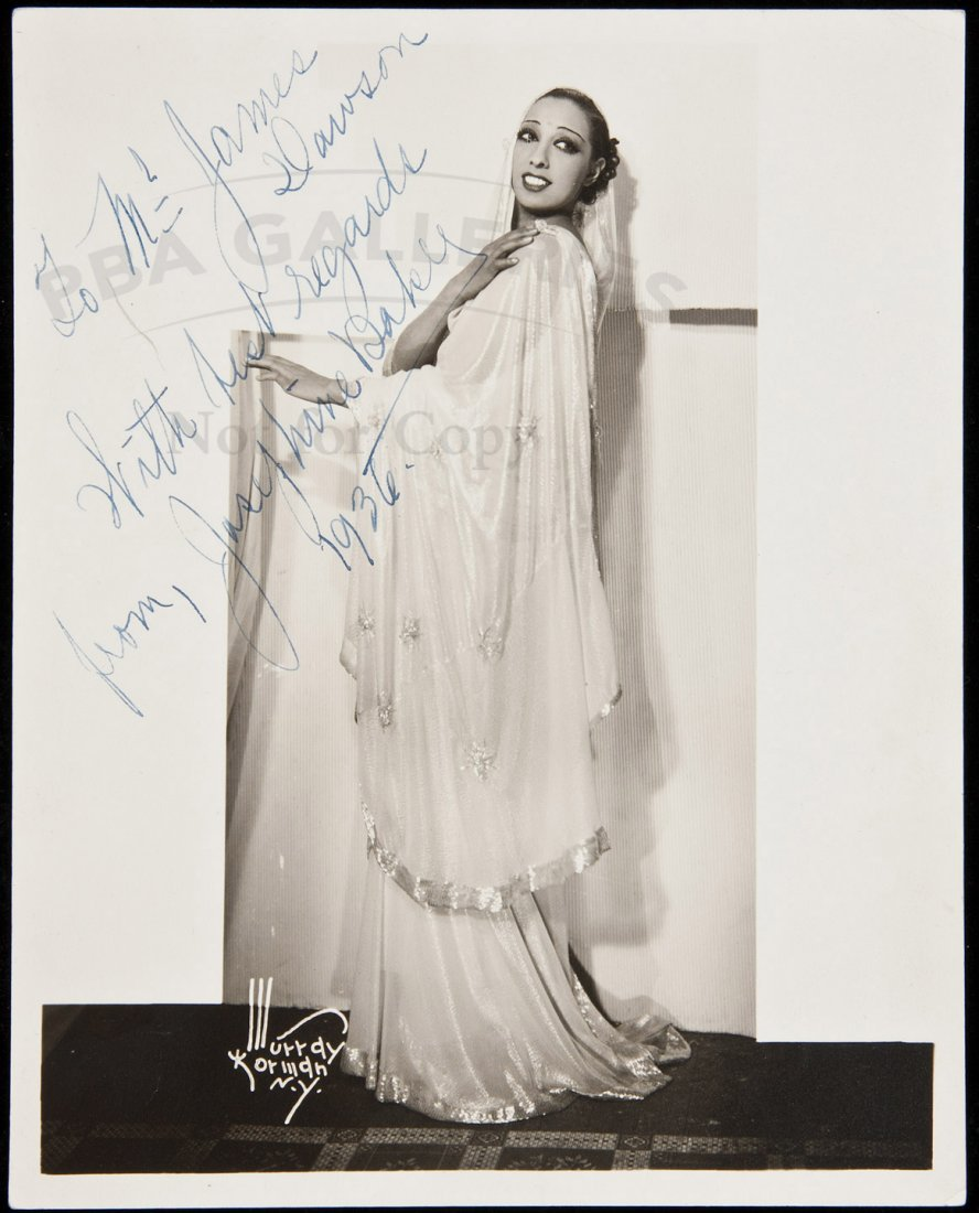 17: Inscribed photograph of Josephine Baker