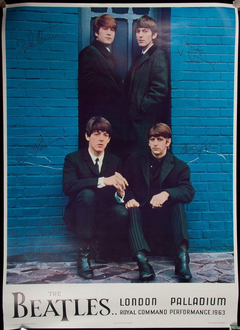 21: The Beatles London Palladium poster 1964