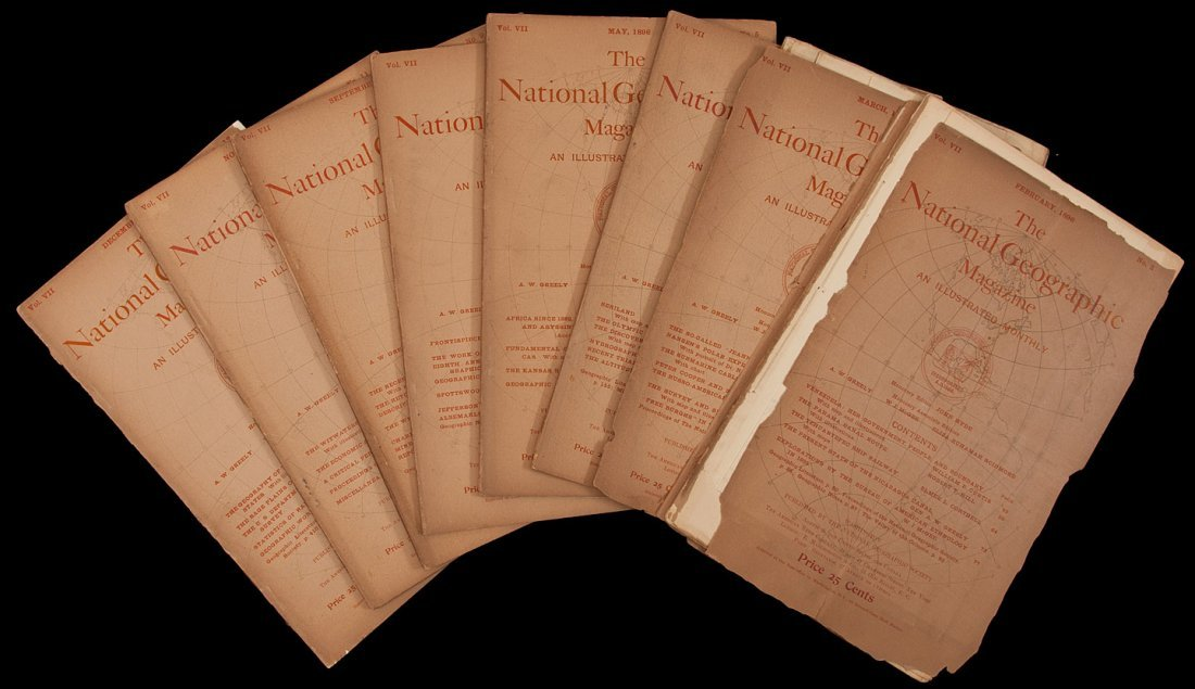 145: 8 issues of National Geographic Magazine 1896