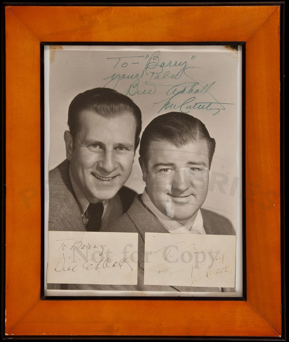1: Abbott and Costello Signed Photograph