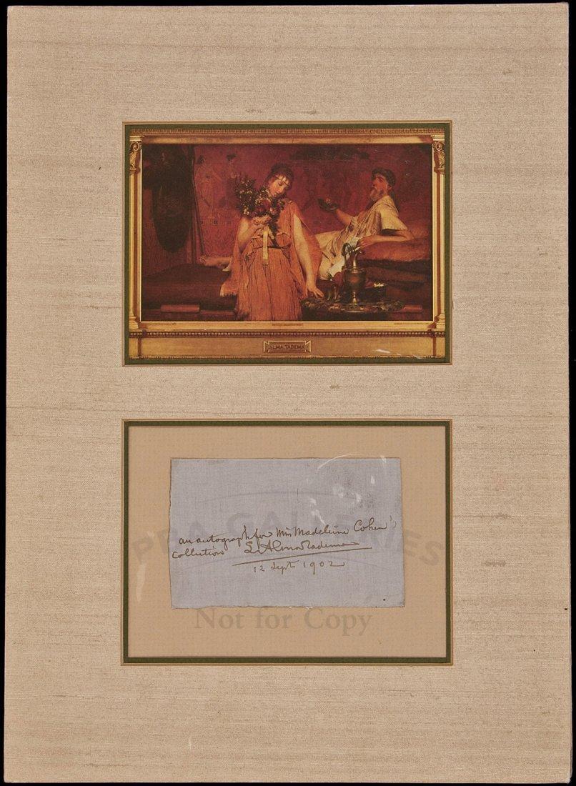 5: Sir Lawrence Alma-Tadema autograph