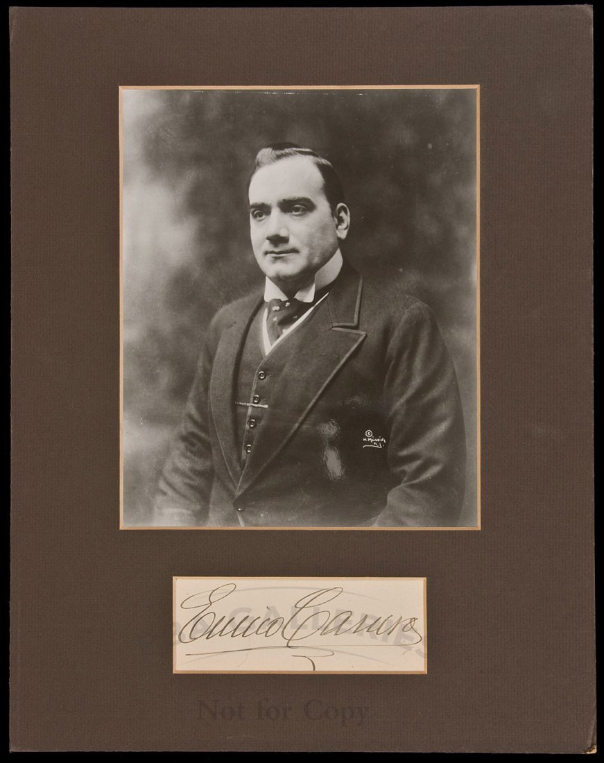 24: Enrico Caruso Signature