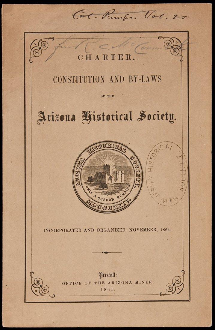 10: Arizona Historical Society Charter & By-laws 1864
