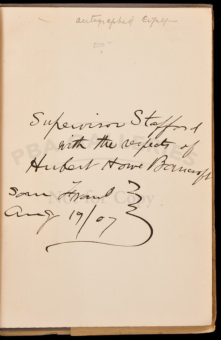 12: Some cities & SF, by HH Bancroft, signed w/dj