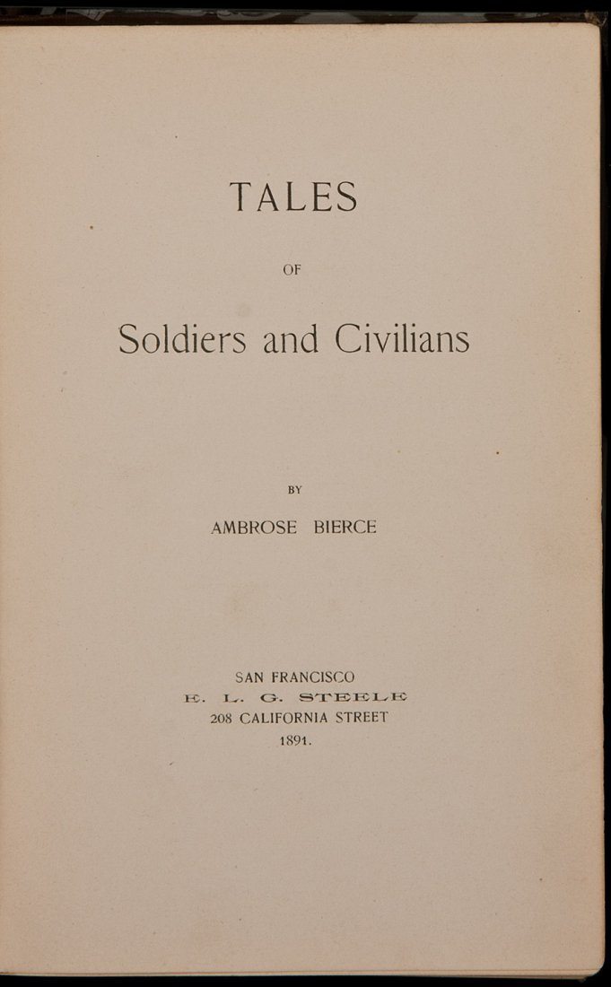 18: Tales of Soldiers and Civilians 1891