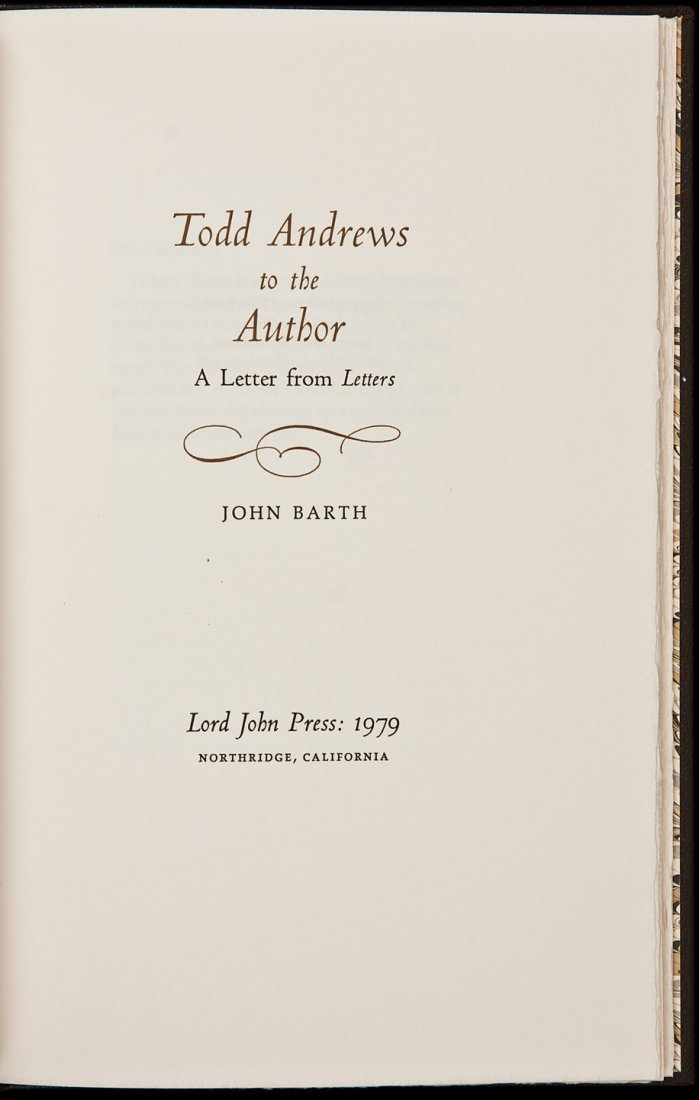 4: Todd Andrews to the Author - John Barth