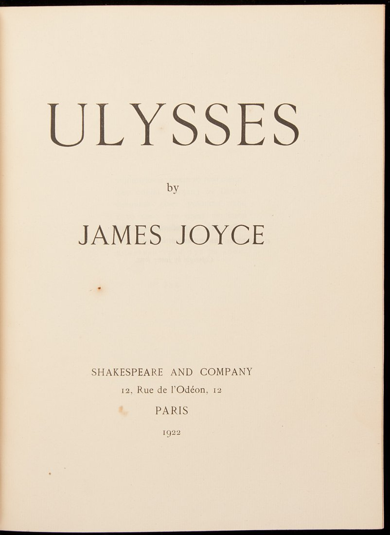 54: Joyce's Ulysses first edition 1 of 150