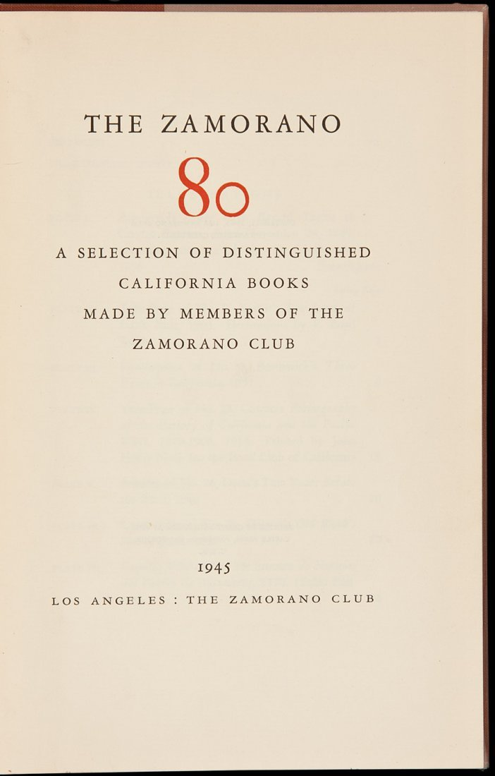 20: The Zamorano 80: A Selection of Distinguished Cal