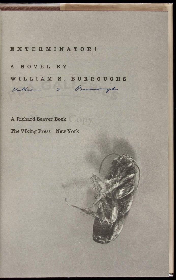 William S. Burroughs Exterminator! signed 1st