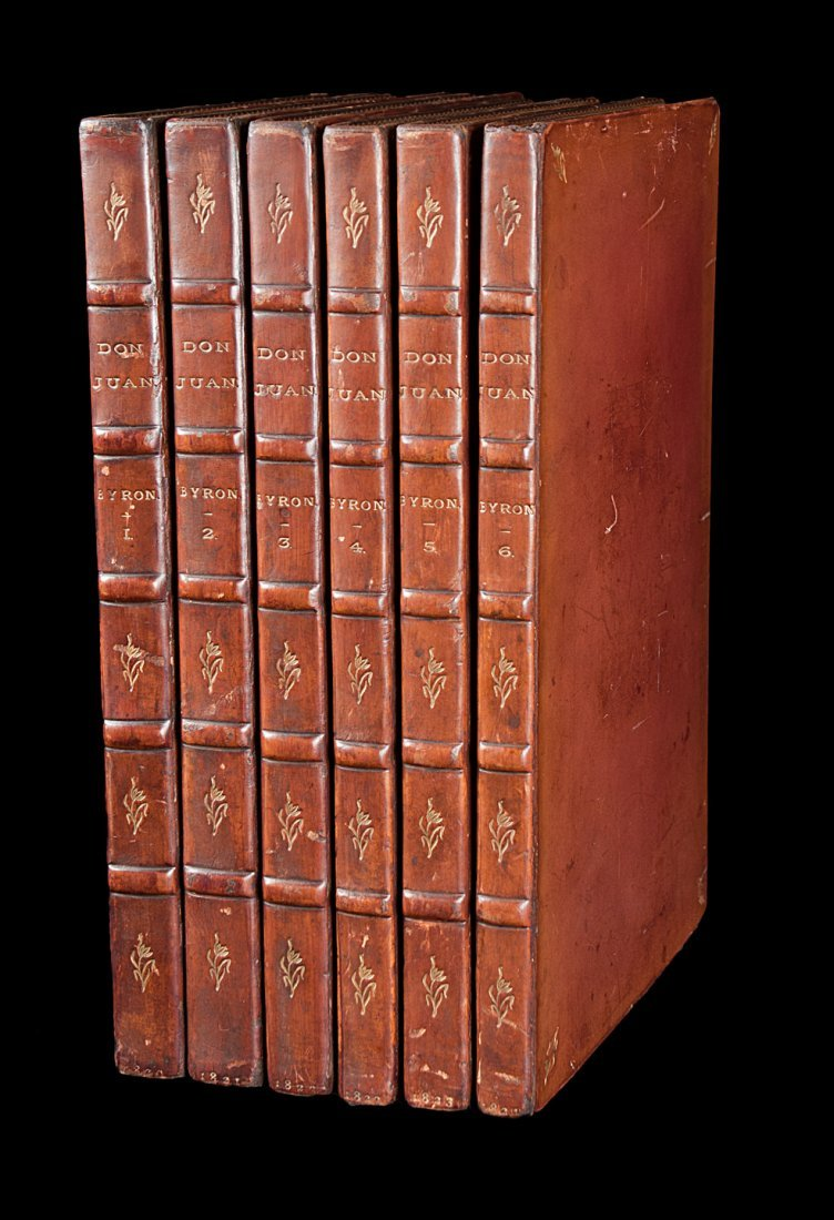 Byron's Don Juan 1820-24 6 volumes finely bound