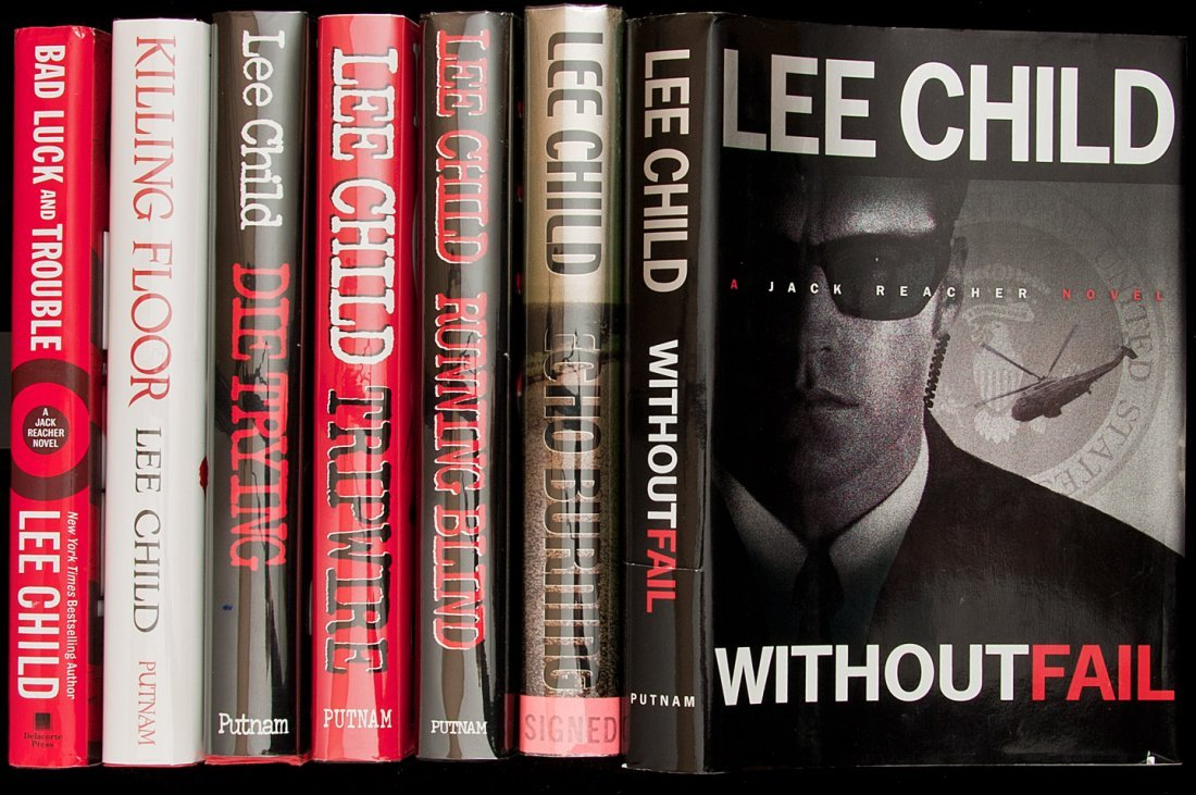 Seven titles by Lee Child, three of them signed