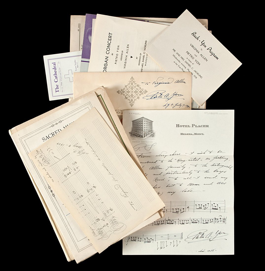 Small archive on composer and organist Pietro Yon
