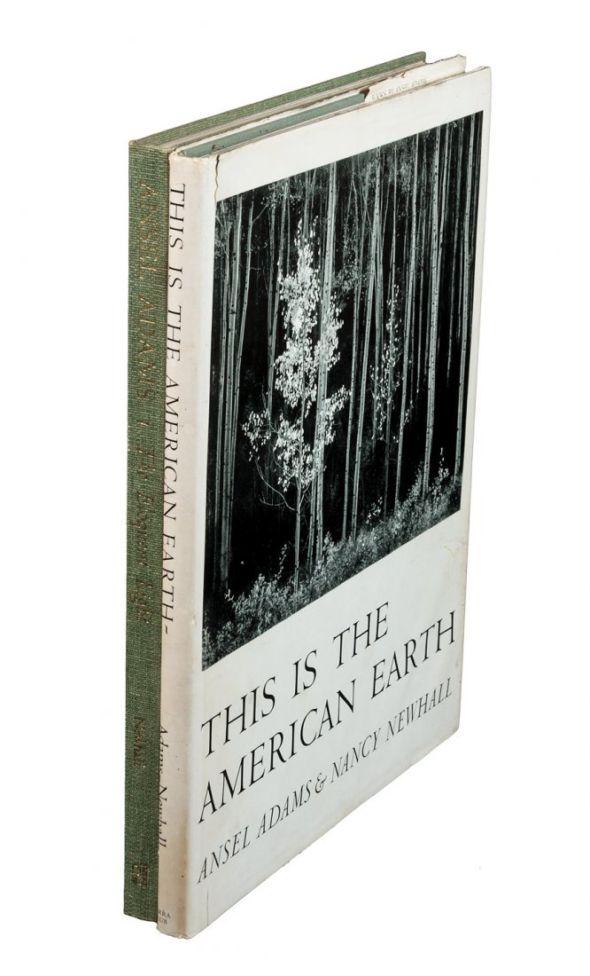 Two books with photographs by Ansel Adams