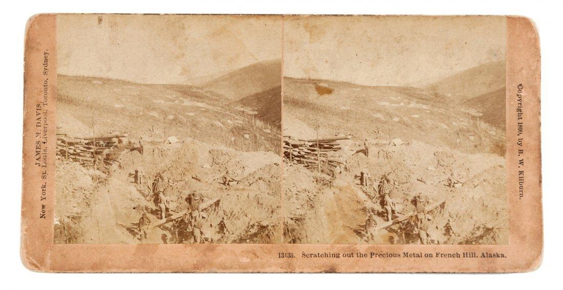 1899 Stereoview of Klondike gold mining