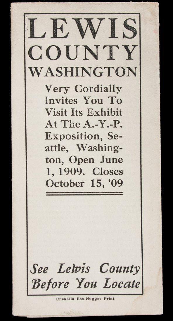 Lewis County Washington 1909