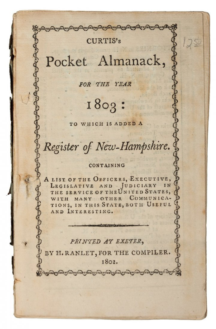 Curtis's Pocket Almanack for the Year 1803