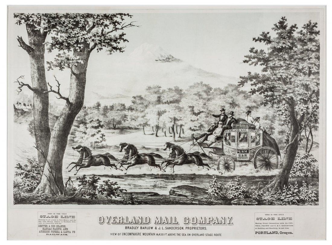 Rare lithograph of Colorado State Line c.1877