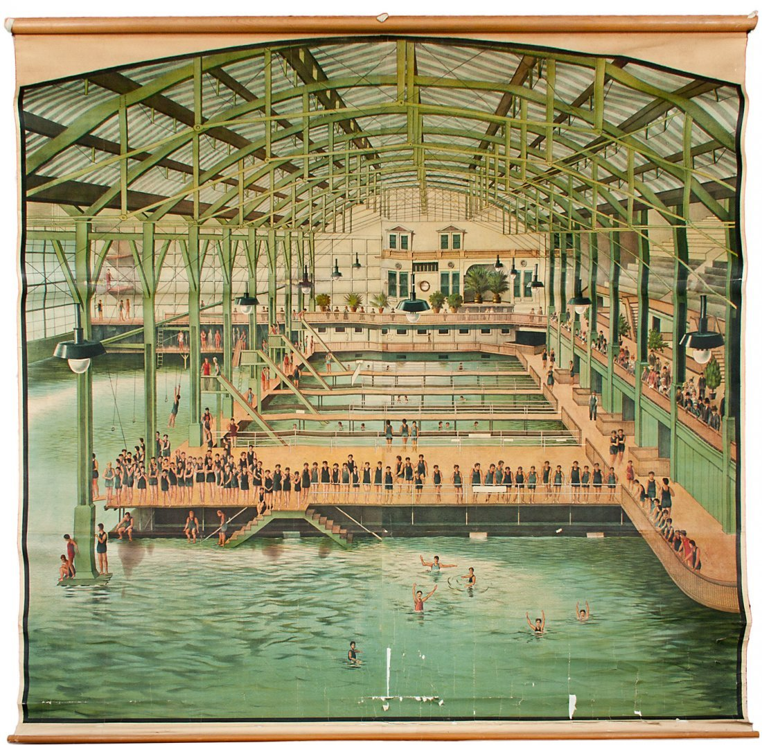 Massive Sutro Baths Lithograph