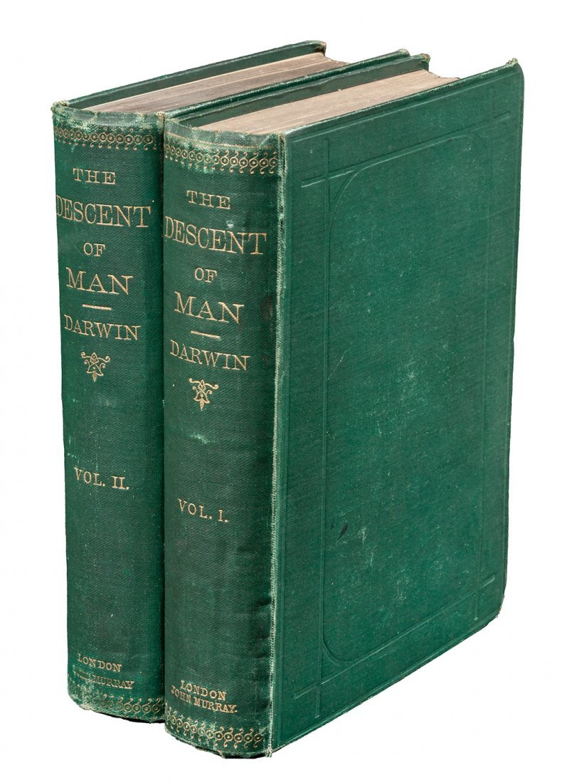Darwin's Descent of Man First Edition 1st issue