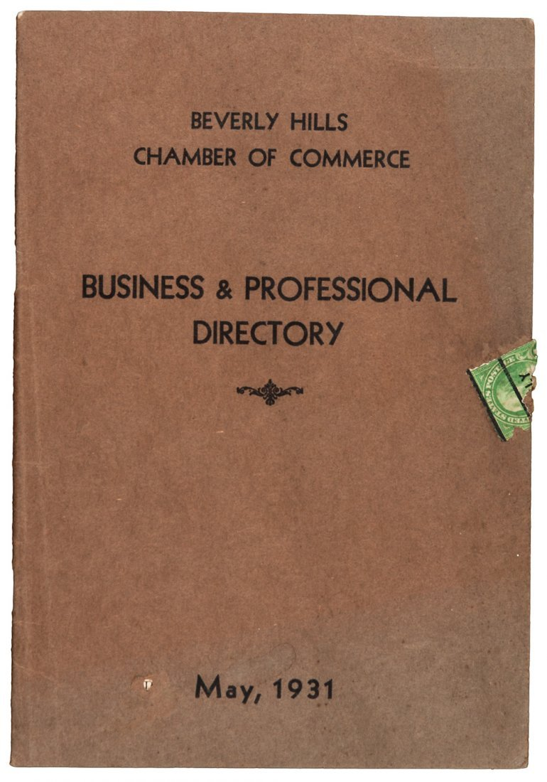 Beverly Hills, CA Business Directory 1931