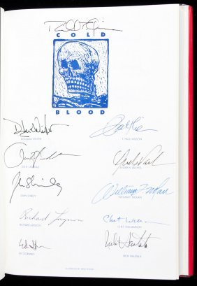 Cold Blood - Signed by 27 authors