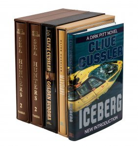 Five volumes by Clive Cussler
