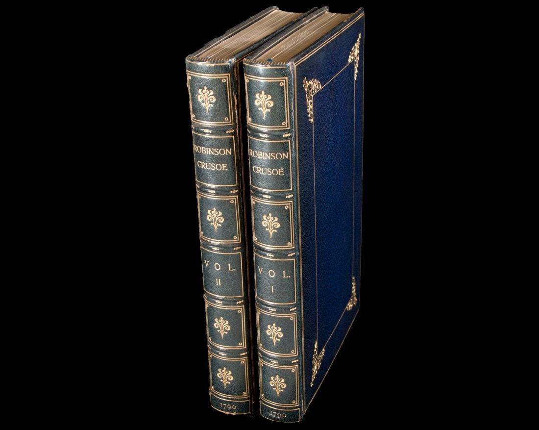 Robinson Crusoe 1790 bound by Bayntun