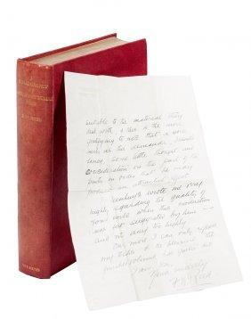 Biblio of Alexandre Dumas Pere w/signed letter