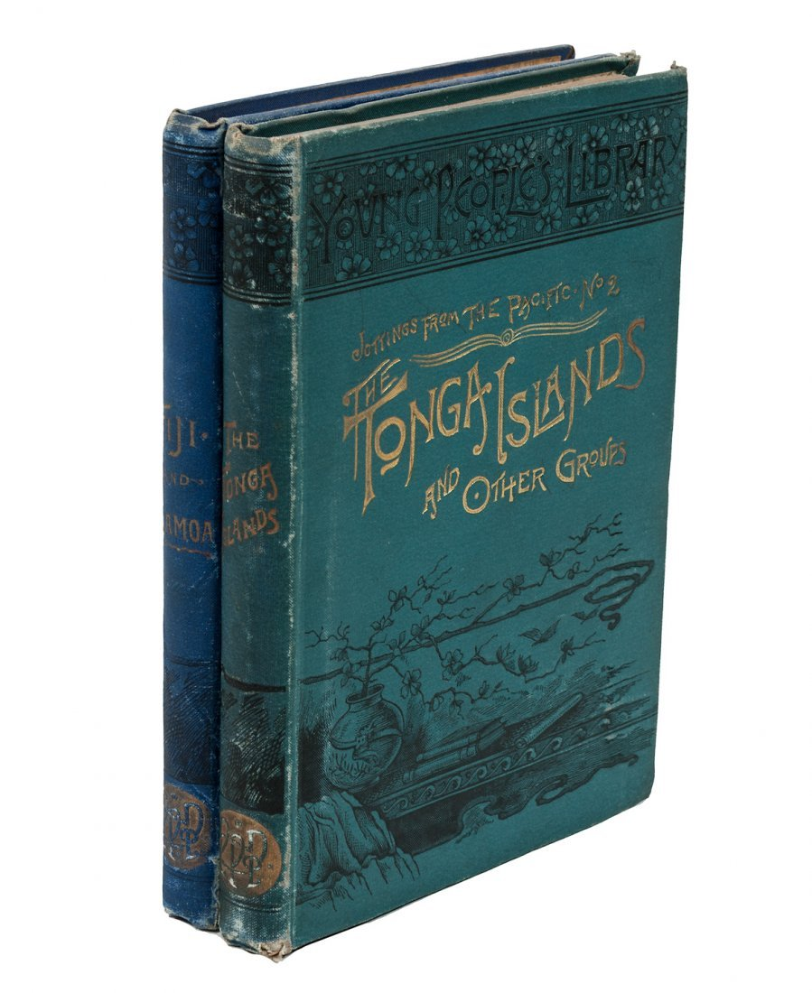 Two volumes on South Sea travel by Emma H. Adams