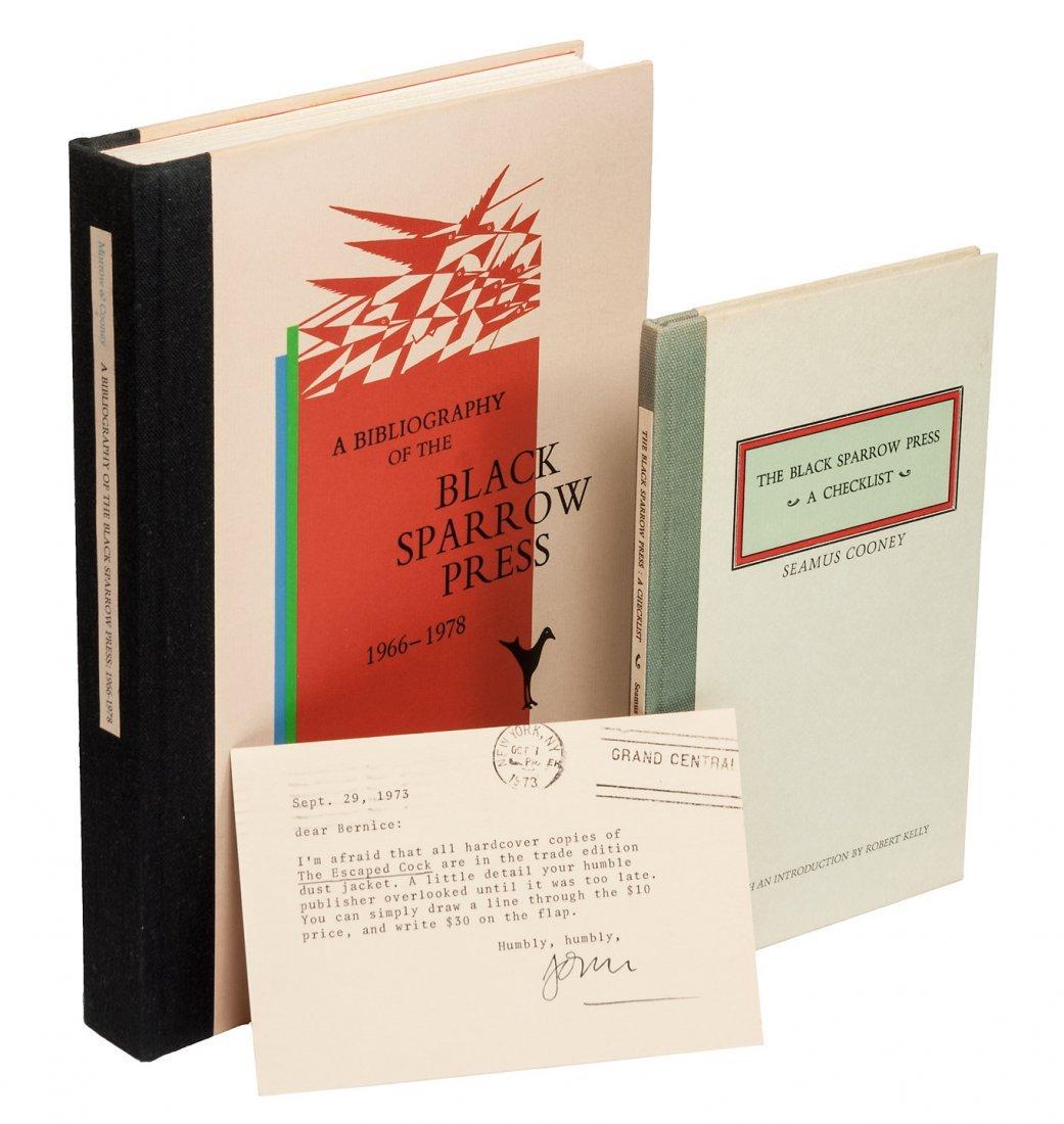 Two Black Sparrow Press bibliographies