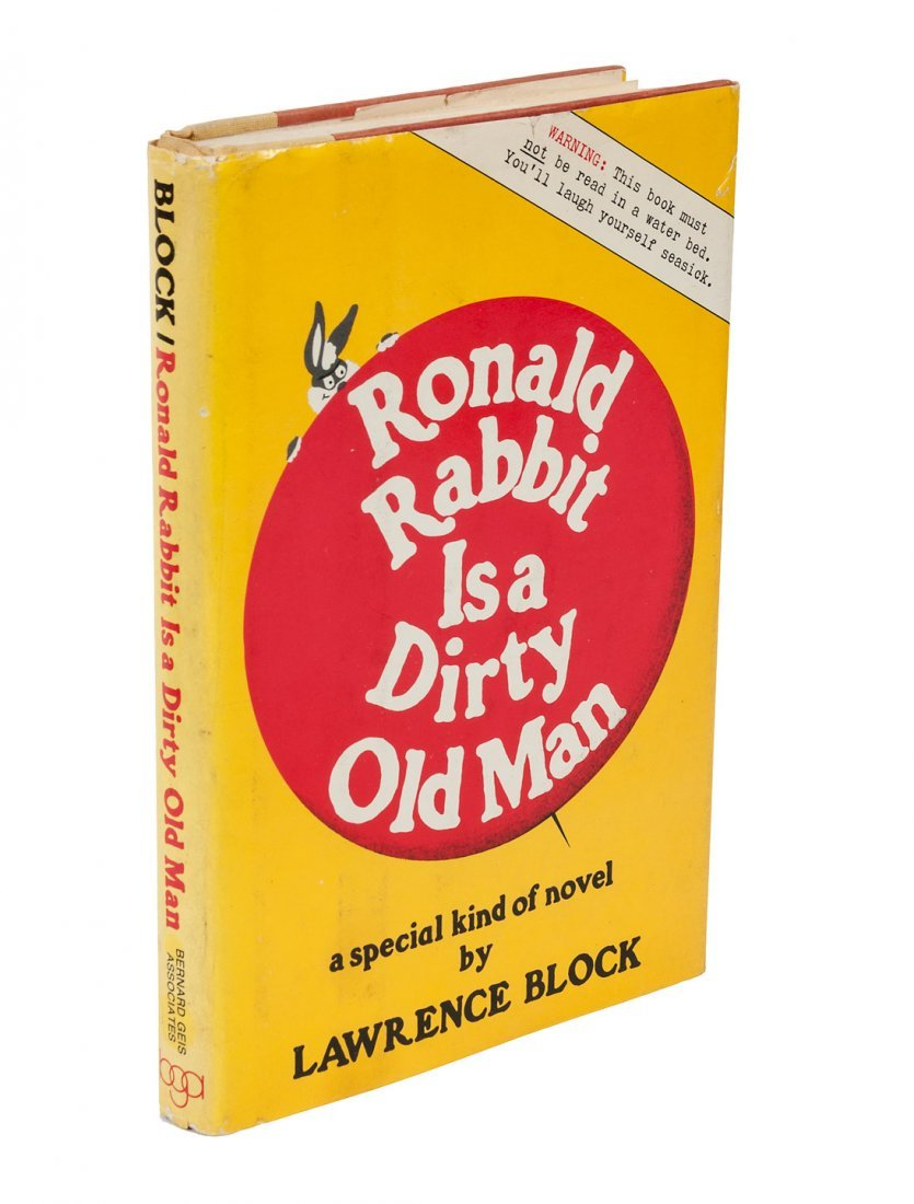 Block's humorous Ronald Rabbit, inscribed 1st edition