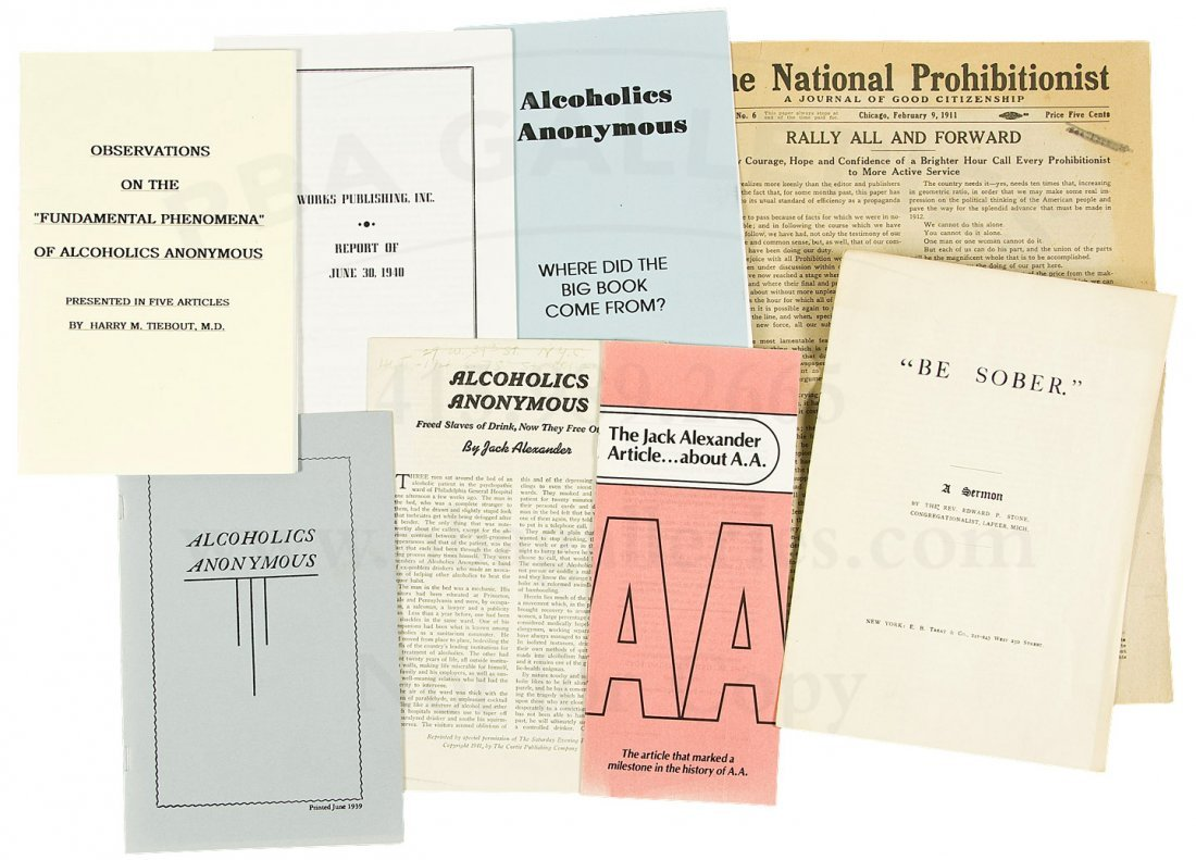 Group of Alcoholics Anonymous related ephemera