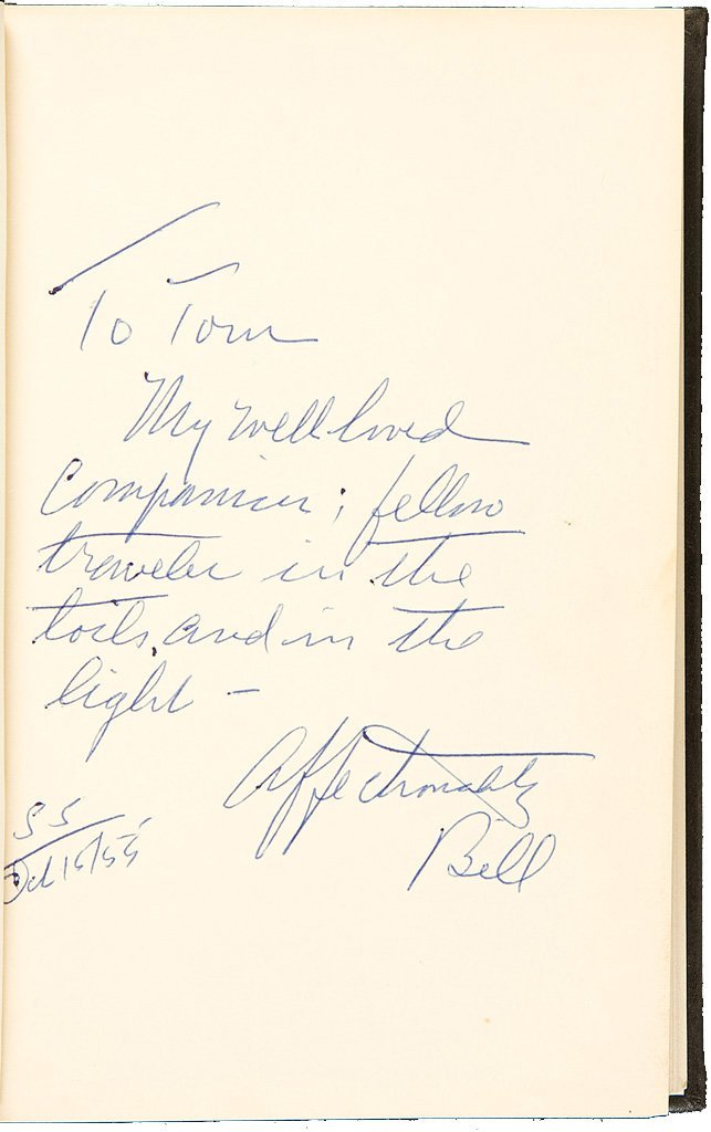 Alcoholics Anonymous Second Edition Signed by Bill W