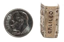Miniature printing of a letter by Galileo Galilei