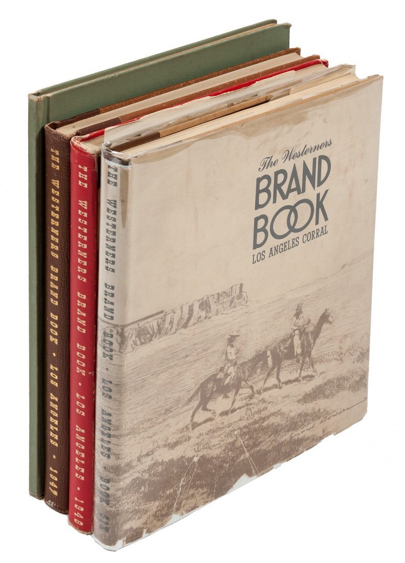 Four volumes of the Westerners Brand Book