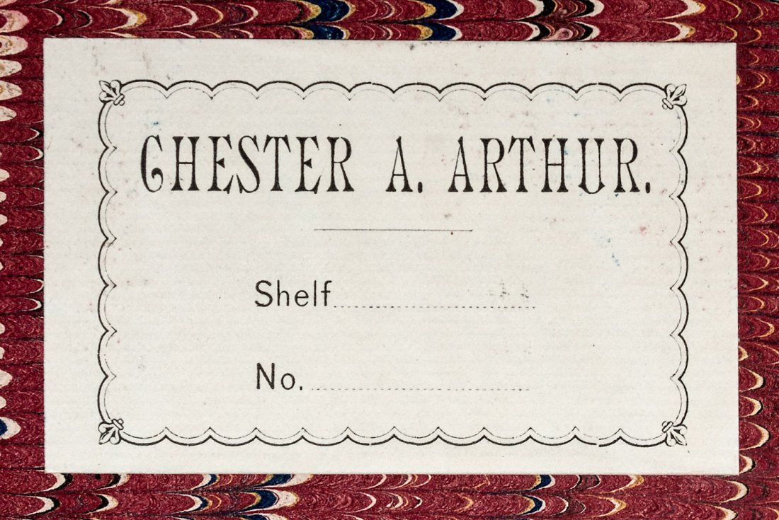 From the White House library of Chester A. Arthur