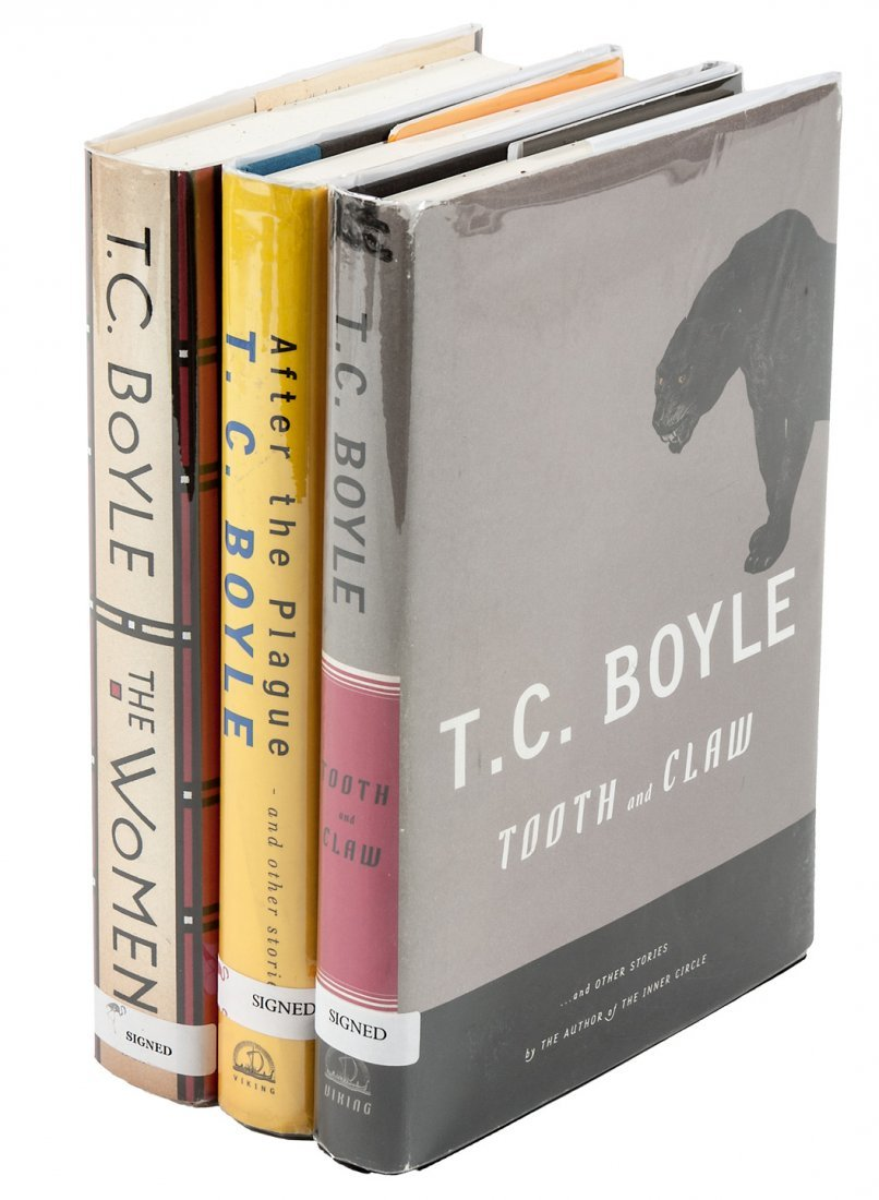 Three signed first editions by T.C. Boyle