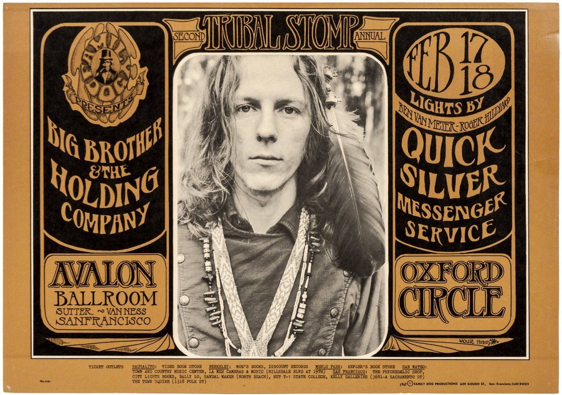 Rock poster for 1967 Big Brother & Holding Co