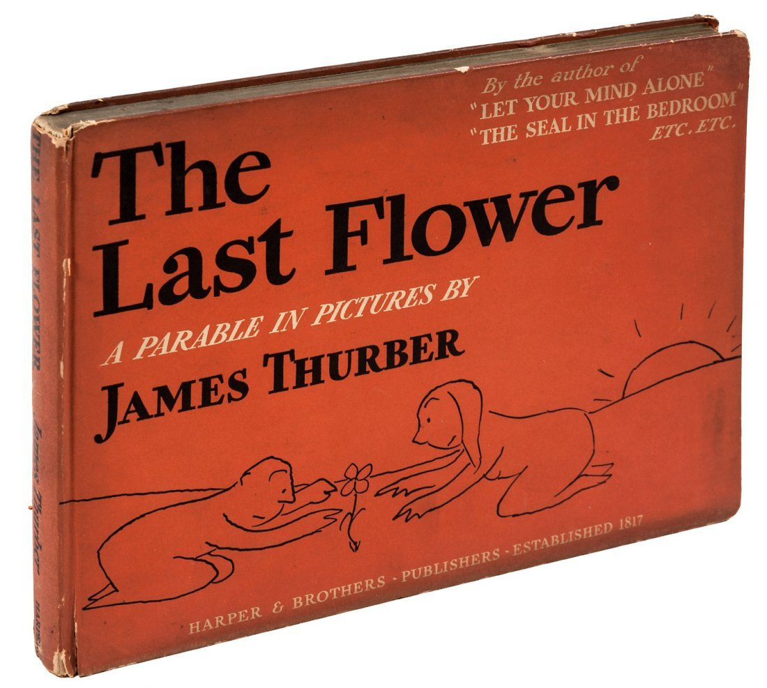 James Thurber The Last Flower Inscribed