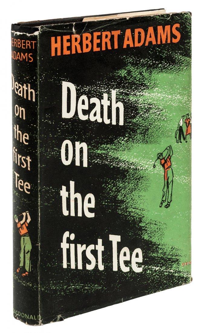 Herbert Adams' last golf mystery, 1st ed in dj