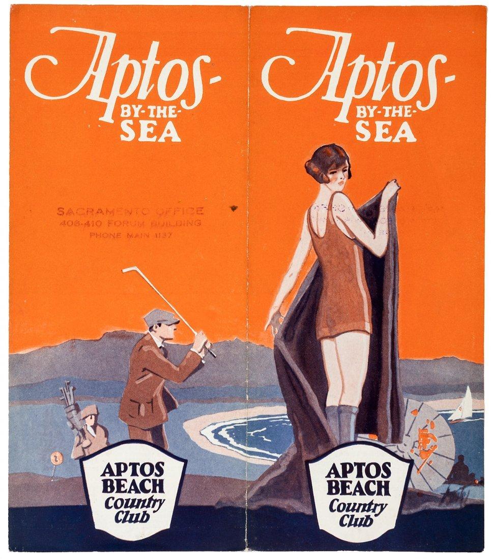 Aptos-by-the-Sea, Santa Cruz golf resort brochure